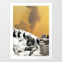 An Industrial Vice Art Print