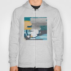 Abstract Grey & Blue Hoody