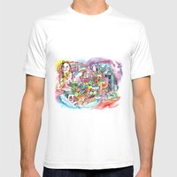 Delightful Mens Fitted Tee White SMALL