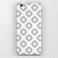 Graphic_Tile Grey iPhone & iPod Skin