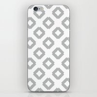 Graphic_Tile Grey iPhone & iPod Skin