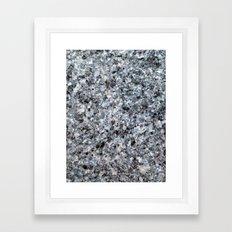 Granite mineral Framed Art Print