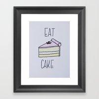 Eat Cake Framed Art Print