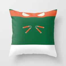 Orange Ninja Turtles Michelangelo Throw Pillow