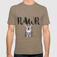 Little Pal, Big Roar Mens Fitted Tee Tri-Coffee SMALL