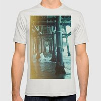 Under The Pier.  Mens Fitted Tee Silver SMALL