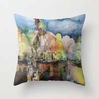 Central Park In Autumn Throw Pillow