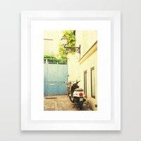 Montmartre Scooter Framed Art Print