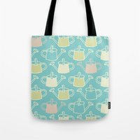 Watering Cans On Teal Tote Bag