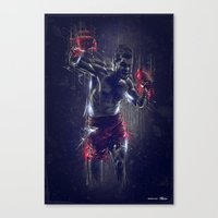 DARK BOXING Canvas Print