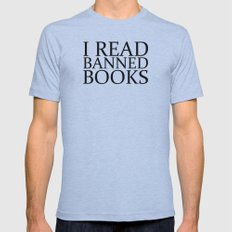 Banned Books Mens Fitted Tee Athletic Blue SMALL