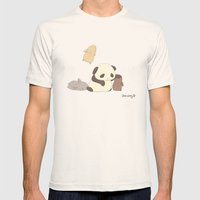 Panda Mens Fitted Tee Natural SMALL