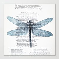 Dragonfly Poet Canvas Print
