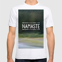Namaste Mens Fitted Tee Ash Grey SMALL