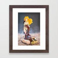 Say Kitchen Again, I Dar… Framed Art Print