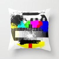 TV Trash Throw Pillow
