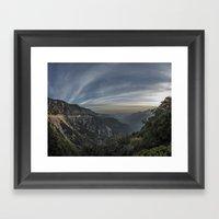 crest sunset Framed Art Print