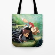 The Foxy And The Puppyis… Tote Bag