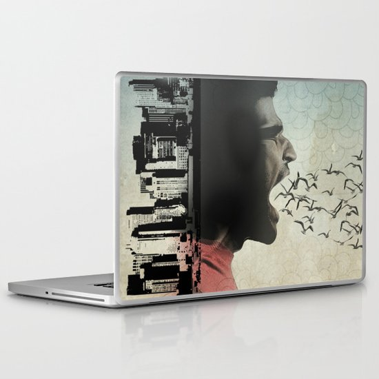 the sound of birds Laptop & iPad Skin