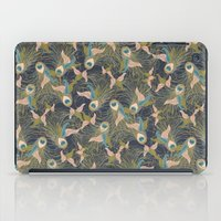 Peacock Feathers and Art Deco Print iPad Case
