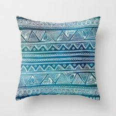 Hippie Pattern Throw Pillow