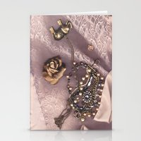 Pink 3 Stationery Cards
