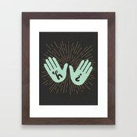 Hi Fives Framed Art Print