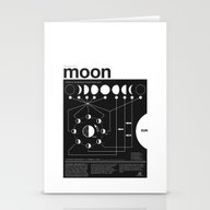 Phases Of The Moon Infog… Stationery Cards