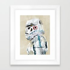 pop art trooper Framed Art Print