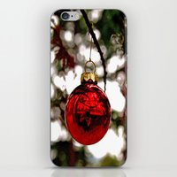 Simple Christmas bulb iPhone & iPod Skin