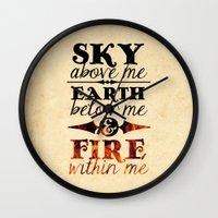 Sky Earth Fire Wall Clock
