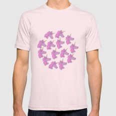 UNICORN Mens Fitted Tee Light Pink SMALL