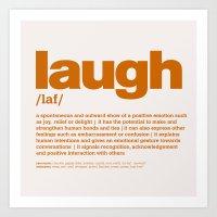 Definition LLL - Laugh 8 Art Print