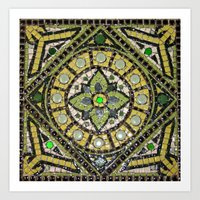 Green Mandala Art Print