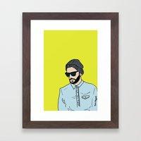 Grey Beanie Framed Art Print