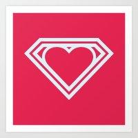 Superlove Art Print