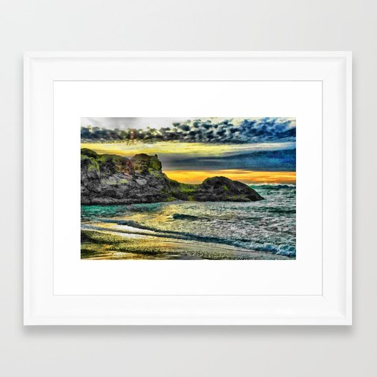 End of a Beautiful Day Framed Art Print