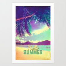 Hello Summer - for iphone Art Print