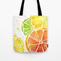 Fruit Watercolor Tote Bag