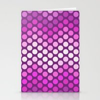 Dot Chevron: Pink Plum Stationery Cards