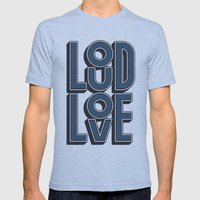 LOUD LOVE Mens Fitted Tee Athletic Blue SMALL