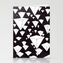 snowing pyramids II Stationery Cards