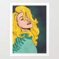 Blond Popart Art Print