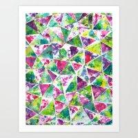 COLLAGE LOVE: Funky Tria… Art Print