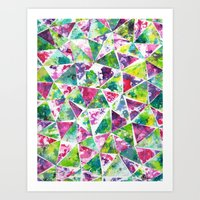COLLAGE LOVE: Funky Triangles Art Print