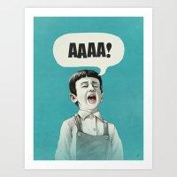 AAAA! (Blue) Art Print