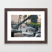 Crane on the Canal Framed Art Print