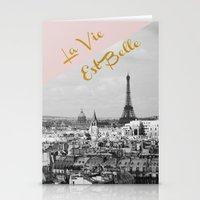 La Vie Est Belle Stationery Cards