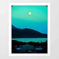 Enchanted Moon. Art Print