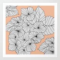 Hydrangea Peach Art Print